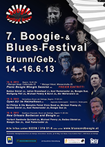 """7. Internat. Blues & Boogie Festival Brunn"""
